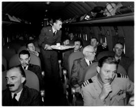 May 1946. Trip to Cape Town with SAA Douglas DC-4 ZS-AUA 'Tafelberg', serving meals.