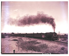 Bethulie district, 1953. SAR Class 15CA with passenger train on its way to Springfontein.