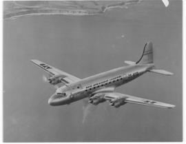 Circa 1945. SAA Douglas DC-4 ZS-ATO 'Lord Charles Somerset' in flight.