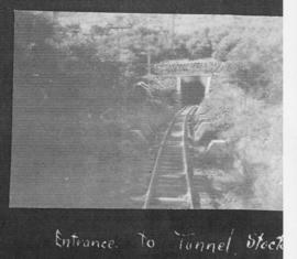 Mooi River district, circa 1925. Entrance to Stockton tunnel. (Album on Natal electrification)