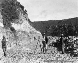 Page 12. Near Graaff-Reinet. Surveyor at work at Wit Krantz cutting, Harrison's section.
