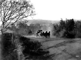 Pietermaritzburg district. Post cart with six horses.