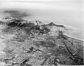 Cape Town, circa 1924. Aerial view of the peninsula.