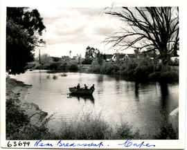 Bredasdorp district, 1955. Rowboat on the river.