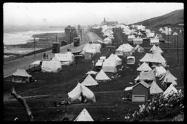 East London, 1940. Tent camp along the coast.