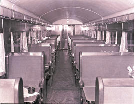 """1946. Blue Train dining car."""