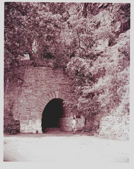 """Waterval-Boven, 1965. Entrance to old NZASM tunnel."""