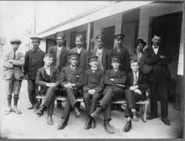 Ashton, 1921. Station staff. (Donated MJ Booker)