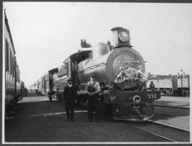 CSAR Class L3 No 372, later SAR Class 6C No 549 decorated or Duke of Connaught's tour of South A...