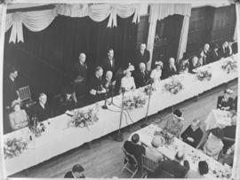 Cape Town, 24 April 1947. King George VI speaking at the state banquet.