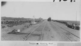 Taaibos, 1895. Station with Cape 6th Class, later SAR Class 6 on train in distance looking west. ...