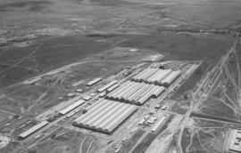 Pretoria, December 1953. Aerial view of Koedoespoort workshops.