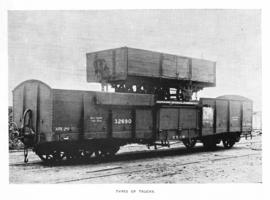 CSAR type A1 ex NZASM low-sided short goods wagon later SAR type E-13 on top of CSAR type H2 No 3...