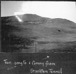 Estcourt, circa 1925. Train at Stockton tunnel. (Album on Natal electrification)