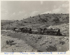 Windhoek district, South-West Africa, 1957. SAR Class 24 doubleheading passenger train.