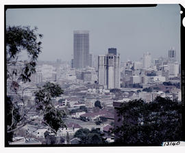 Johannesburg, 1973. City view with Carlton Centre in the centre.