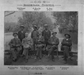 Mafeking, 1908. CGR permanent way staff for the Rhodesian system.