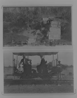 Page 05 (top. 1912. Two men on motor trolley. Page 14 (bottom). 1912. Selati River Bridge with th...