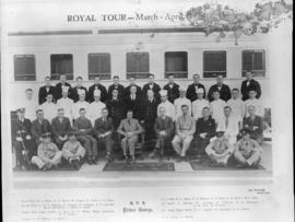 March to April 1934. Prince George and staff of the Royal Train.