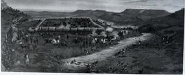 Vryheid district, 1838. Blood River battle in 1838. (Reproduction of painting)