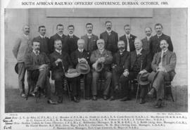 Durban, October 1905. Conference of South African railways officers.
