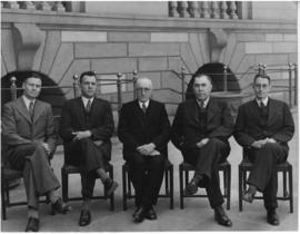 Johannesburg, 1944. Board of Governors at the Railway Training College Esselen Park.