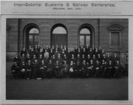 Pretoria, May 1908. Inter-Colonial Customs and Railway Conference.