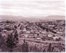 Queenstown, 1950. General view over town.