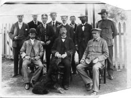 Queenstown, circa 1900. Station staff during Anglo-Boer War.