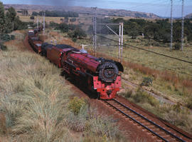 Pretoria district. SAR Class 26 No 3450 'Red Devil' with goods train on the way to Witbank. [Jan ...