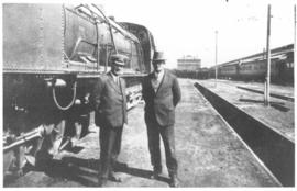 Two men at SAR Class GF No 2416.