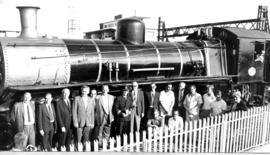 Springs, 15 January 1974. Unveiling of SAR Class 10 No 744 as national monument at railway station.