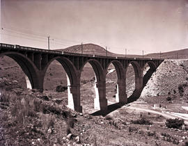 Vryheid district, 1975. Large concrete rail bridge.
