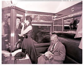 """1952. Blue Train compartment scene."""