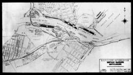 East London. Plan of Buffalo harbour.