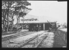 Cape Town, 1874. First railway station.