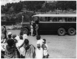 Mbabane, Swaziland, circa 1928. Thornycroft dual purpose bus.