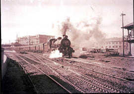 Johannesburg, 1929. SAR Class 16C with passenger train leaving Park station. This train is likely...