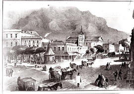 Cape Town, 1866. Painting of Adderley Street.
