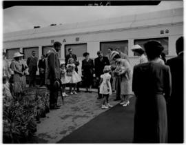 Queenstown, 6 March 1947. Arrival of Royal family at the station.