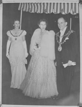 Cape Town, 21 April 1947. Princess Elizabeth attending a ball at the city hall on the occasion of...