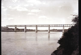 """Aliwal North, 1916. Completed new railway bridge over the Orange River."""