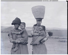 """Transkei, 1952. Xhosa women with babies."""