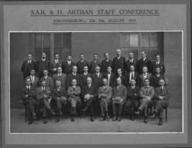 Johannesburg, 27 to 30 August 1923. SAR&H Artisan Staff Conference.