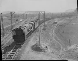 Johannesburg, 1948. SAR Class 15F departing with coal train from Germiston.