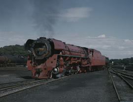 Pretoria, 1989. SAR Class 26 No 3450 'Red Devil' at Capital Park.