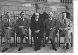 Johannesburg, 1946. Board of Governors at the Railway Training College Esselen Park.