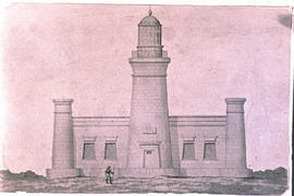 Cape Agulhas, 1945. Sketch of lighthouse.