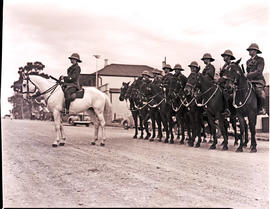 Umtata, 1940. Mounted police on parade.