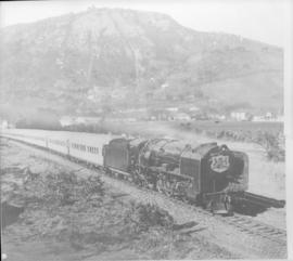 Paarl, 20 February 1947. Royal Train being hauled by SAR Class 15F.